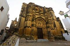 Wide angle shot of Basilica. Arcos de la Frontera. Spain royalty free stock photos