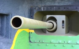 Wide angle shot of cannon Stock Image