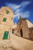 A wide angle shot of Dubrovnik Old Town generic architecture Royalty Free Stock Photos