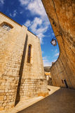 A wide angle shot of Dubrovnik Old Town generic architecture Stock Images