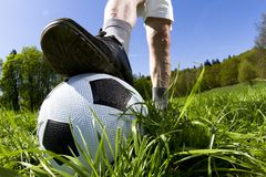 Wide angle shot of football Stock Images