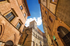 5.05.2017 - A wide angle shot of generic architecture in Siena, Tuscany Royalty Free Stock Images
