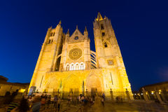 Wide angle shot of Leon Cathedral Royalty Free Stock Photography