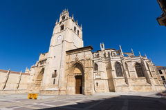 Wide angle shot of  Palencia Cathedral Stock Photos
