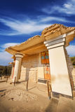 A wide angle shot of the partially restored ruins of Knossos Palace in Heraklion Royalty Free Stock Photos
