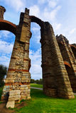 Wide angle shot of  roman aqueduct. Merida, Spain Stock Photography