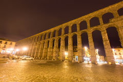 Wide angle shot of   Roman Aqueduct Royalty Free Stock Image
