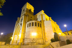 Wide angle shot of San Juan de Albacete  in evening. Time.   Spain Royalty Free Stock Images