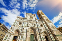 A wide angle shot of Santa Maria Del Fiore cathedral, Florence Stock Images