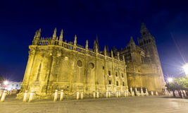 Wide angle shot of Seville Cathedral Royalty Free Stock Images
