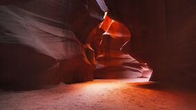Wide angle shot of the slot canyon upper antelope canyon in arizona