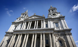 Wide angle shot of St Pauls, London, England Stock Photography