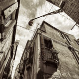 Wide angle shot of street crossroad in Venice Royalty Free Stock Photo