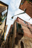 Wide angle shot of street crossroad in Venice Royalty Free Stock Image