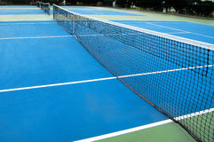 Tennis court. Wide angle shot of tennis court Royalty Free Stock Photography