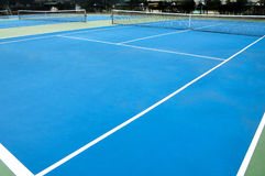 Tennis court. Wide angle shot of tennis court Royalty Free Stock Images