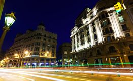 Wide angle shot of Via Laietana. Barcelona Stock Image