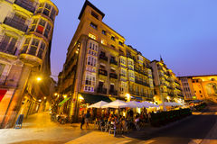 Wide angle shot of Virgen Blanca Square Stock Photography