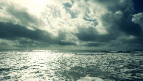 Wide Angle Sky and Ocean stock video footage