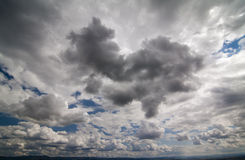 Wide-angle skyscape Stock Images