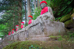 Wide angle of statues in Nikko Stock Image