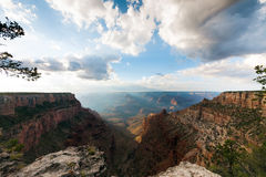 Wide angle of sunset in Grand Canyon, Arizona, USA Royalty Free Stock Images