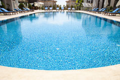 Wide angle swimming pool Stock Photos
