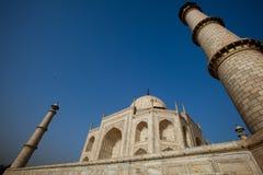 Wide angle of Taj Mahal Agra in India Stock Image