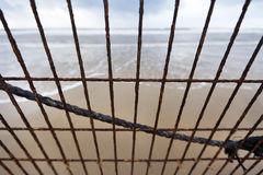 Beach Mesh Corrosion Royalty Free Stock Photo