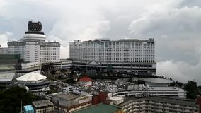 Wide Angle Timelapse of Resorts World Genting in Bentong, Pahang, Malaysia stock video