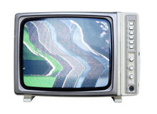 Wide angle tv Stock Photo