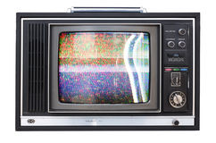 Wide angle tv. A wide angle shot of an old television Royalty Free Stock Image