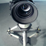 Wide Angle video lens view. Studio Television camera close and wide Stock Image