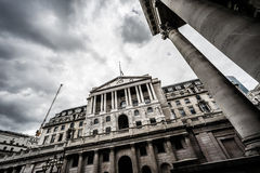 Wide angle view of the Bank of England, London, UK. Stock Photography