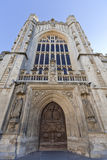 Exterior of west entrance to Bath Abbey, UK Royalty Free Stock Photography