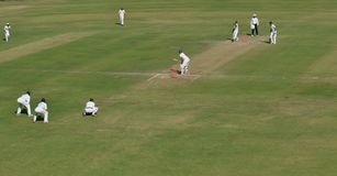 Cricket Ground and Fielders India Stock Photography
