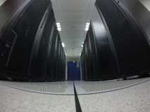 Wide angle view data center Royalty Free Stock Photos