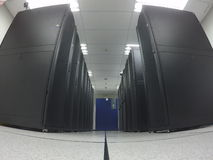 Wide angle view data center Stock Images