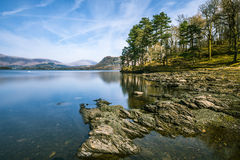 Wide Angle View At Derwentwater Lake In The Lake District, UK. Royalty Free Stock Image