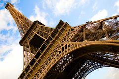 Wide angle view of the Eiffel Tower Royalty Free Stock Photography