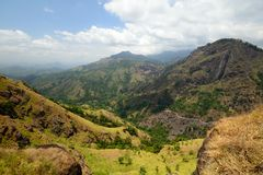 Wide angle view of Ella Gap, Sri Lanka Stock Images