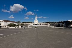 Wide angle view of Fátima Shrine Royalty Free Stock Photography