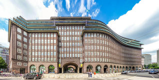 Wide angle view of famous Chilehaus in Hamburg, Germany Stock Image