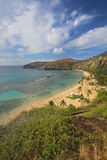 Wide-angle view of Hanauma Bay, Hawaii vertical Royalty Free Stock Photo