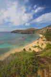 Wide-angle view of Hanauma Bay, Hawaii vertical Royalty Free Stock Photo