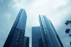 Wide angle view of high rise building. Leading to the light Royalty Free Stock Photo