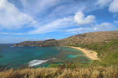Wide-angle view of Honolulu, Hawaii Royalty Free Stock Images