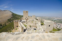 Wide angle view of jaen castle Stock Image