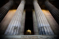 Wide Angle view of Lincoln Memorial Stock Photo