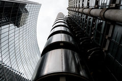 Wide-angle view of the Lloyds Building in London Stock Images